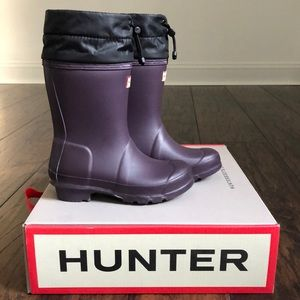 Purple Hunter boots size 12